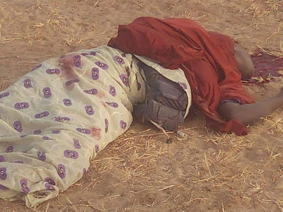 Pictures: Four suicide bomb Girls killed by civilian JTF in Borno.