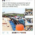 104 Christians convert to Islam in Delta See what happened  (photos).